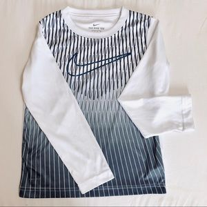 Nike white dri-fit long sleeve shirt size S 4-5